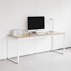 옴므 라운딩 철제 책상 테이블 1800 프레임&상판 색상 선택