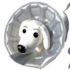 강아지 목 보호대 애견 넥카라 깔대기 상처 튜브형 L