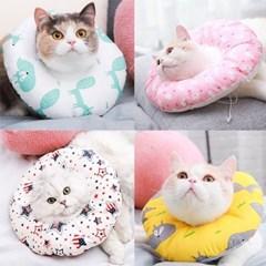 동물 도넛 쿠션 보호 넥카라 M사이즈 애완동물 용품