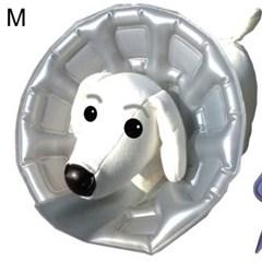 강아지 목 보호대 애견 넥카라 깔대기 상처 튜브형 M