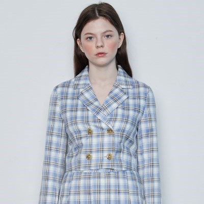 IN CHECK SET UP JACKET(BLUE)_(4389631)