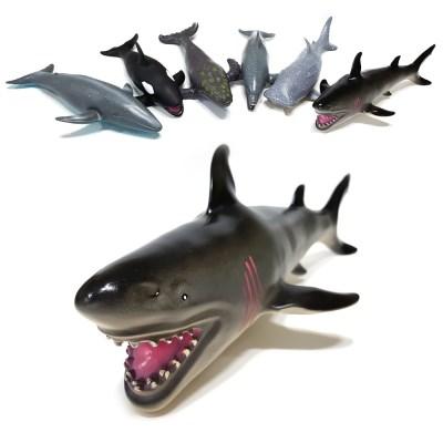 소프트 해양(중) 바다동물 해양생물 동물피규어 상어 돌고래