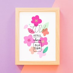 체리블라썸 벚꽃 A4 아트포스터