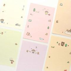 핑크풋 솜소미 편지지+봉투(랜덤배송)
