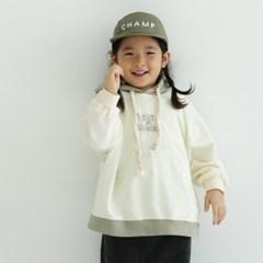 열) 로스트 아동 배색 후드티
