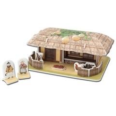 모또 초가집 전통가옥 입체퍼즐 만들기