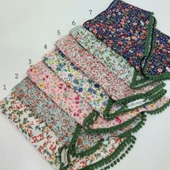 면 꽃무늬 플라워 미니 쁘띠 승무원 가방 패션 스카프