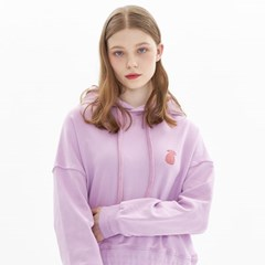 CHESS CHECK CROPPED HOODIE_LAVENDER