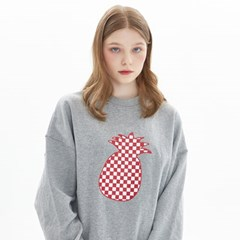 CHESS CHECK SWEATSHIRT_MELANGE GRAY