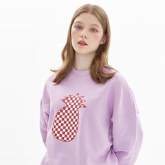 CHESS CHECK SWEATSHIRT_LAVENDER