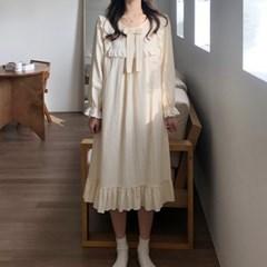 메르 공주 원피스 프릴 잠옷 면 파자마