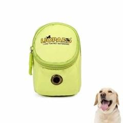 강아지 배변봉투 가방 라임