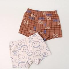 봉봉마카롱 남아 면스판 2매입 드로즈세트02