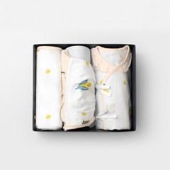 옥수수톡톡 신생아 출산선물세트(저고리+속싸개+모자)_여름용