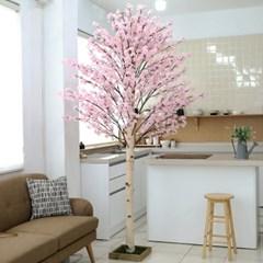 인테리어 제작나무 조화화분 벚꽃나무 240cm 사방형_(2385384)