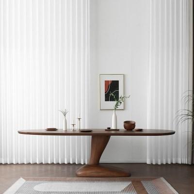 [헤리티지월넛] A형 타원식탁/테이블 2000_(1693165)