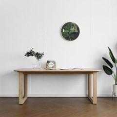 [오크] E형 커브식탁/테이블 : 화이트오크 2000_(1693166)