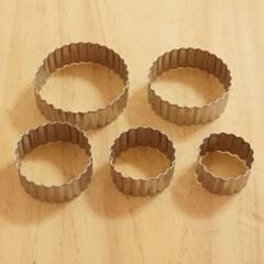 카페테리아 스텐 원형 쿠키커터 5종1세트