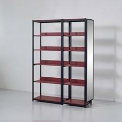 카소 철제 드레스룸 1400 선반 거울장 세트