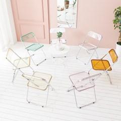 채우리 네리나 투명 아크릴 접이식 의자