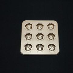 카페테리아 9구 곰발모형 오븐팬 1개