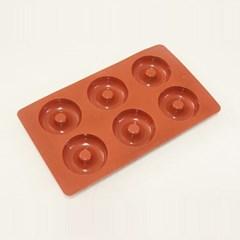 카페테리아 실리콘 6구 도넛형 몰드 1개