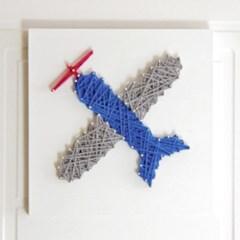 스트링아트 비행기 DIY 키트 (30x30cm)