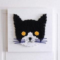 스트링아트 고양이 DIY 키트 (30x30cm)