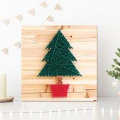 스트링아트 크리스마스 트리 DIY 키트 (30x30cm)