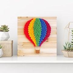 스트링아트 열기구 DIY 키트 (30x30cm)