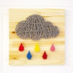 스트링아트 어두운 구름 DIY 키트 (30x30cm)