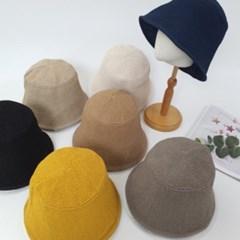 지사 기본 심플 챙넓은 패션 버킷햇 벙거지 모자
