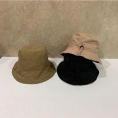 스트랩 챙넓은 무지 기본 데일리 버킷햇 벙거지 모자