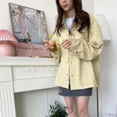 봄 오버핏 레트로 카라 빅포켓 똑닥이단추 셔츠 숏자켓