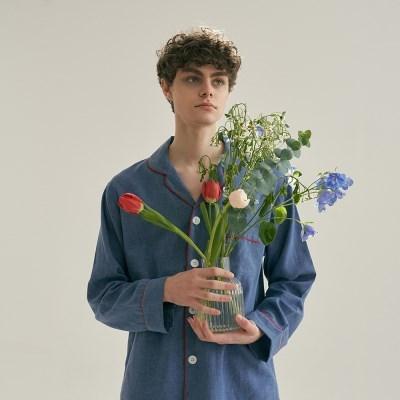 (m) French Blue Pajama Set