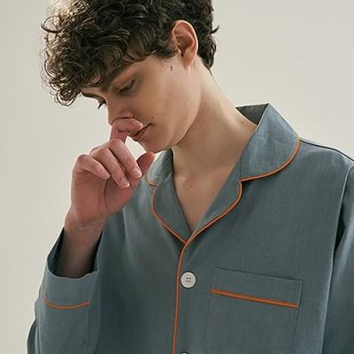 (m) Turkish Blue Pajama Set