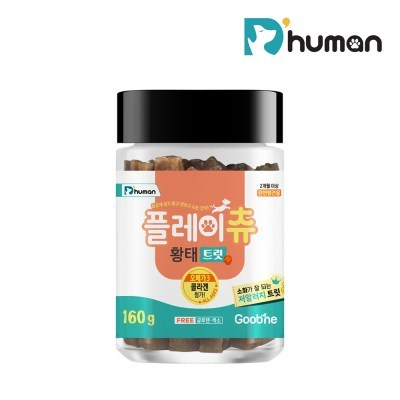 [듀먼] 플레이츄 저알러지 황태트릿 (160g) / 노즈워크 칭찬간식