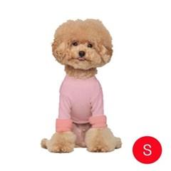 강아지 캐시 웜 올인원 핑크 S