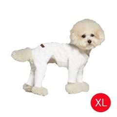 강아지 스펀지느낌 올인원 화이트 XL