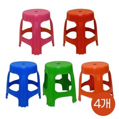 국산 고급2단 대형 우산형 파라솔_원형보조의자 4개세트(5색)