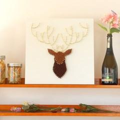 스트링아트 사슴 DIY 키트 (40x40cm)