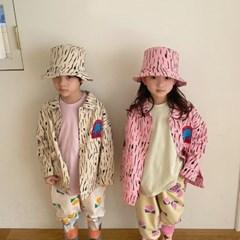 페) 자수 아동 사파리자켓