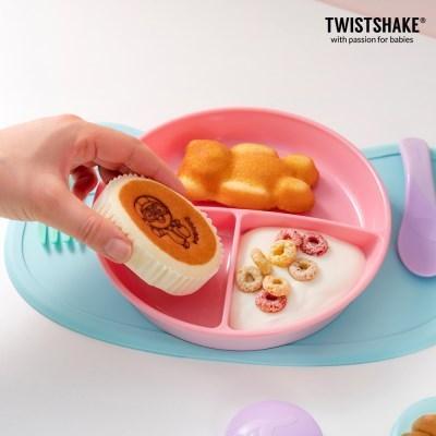 트위스트쉐이크 흡착식판 미니+그릇 3종(볼+플레이트)