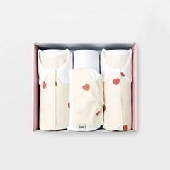 플럼플럼 아기 백일선물세트(내의+슈트+모자)_여름용