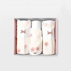 [메르베] 벚꽃 아기 백일선물세트(내의+슈트+모자)_여름_(1597216)