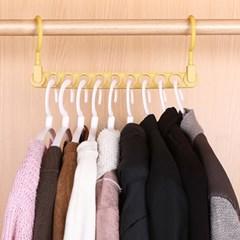 가로세로 공간활용 옷걸이(옐로우) 옷장 정리