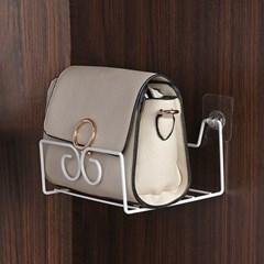 리빙홈 접착식 가방정리대(화이트) 핸드백 가방거치대