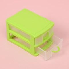 컬러팝 2단 멀티박스(그린) / 책상정리 소품정리함