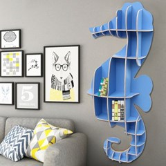 DIY 해마 동물모형 선반 책장 인테리어 벽선반