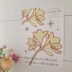 'Winter Blooms' Color Poster (Yellow)